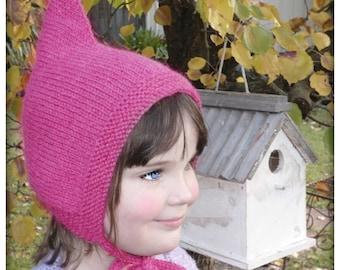 PATTERN PDF Lutin Hat Knitting Knit Baby Toddler Child Pixie Bonnet DIGITAL