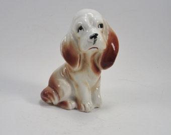 Vintage Basset Hound Figurine - Retro Puppy Dog Collectible