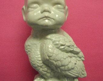 Sweet Pea baby owl Vase