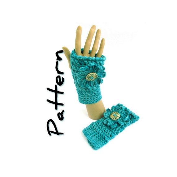 Chunky Fingerless Mitts Crochet Pattern PDF, easy written instructions, one skein bulky yarn, UK & US crochet terms, instant download