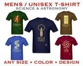 Science Tshirt - Rock Star Scientist Shirt, Geek Gift, Chemistry Shirt, Physics Tshirt, Geeky Clothing, Nerdy Gift, STEM Educational Design