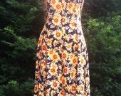 Vintage 80s/90s All That Jazz Boho Sunflower Maxi Dress