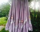 Vintage 60s 70s Bohemian Gypsy Skirt
