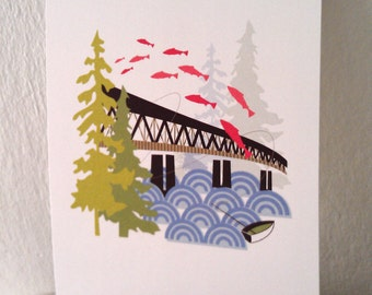 Old Sellwood Bridge Portland 5X7 Print