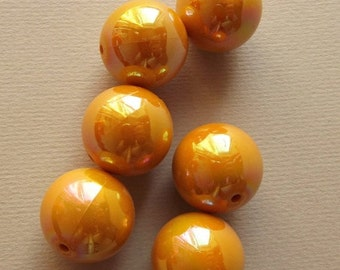 Vintage mustard yellow big beads