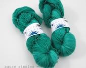 mermaid - aquae singles, fingering weight sock yarn (dyed to order)