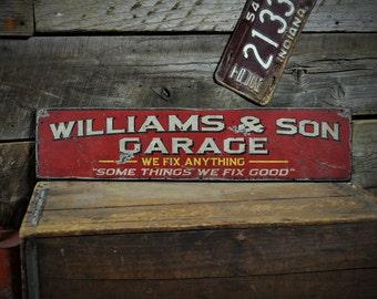 Custom Mechanic Sign, Mechanic Sign, Garage Sign, Funny Mechanic Sign, Garage Decor -  Rustic Distressed Hand Made Wooden Sign ENS1000458