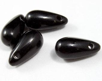 12mm Black Teardrop Bead (10 Pcs) #2013