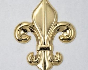 45mm Gold Fleur de Lis (2 Pcs) #2898
