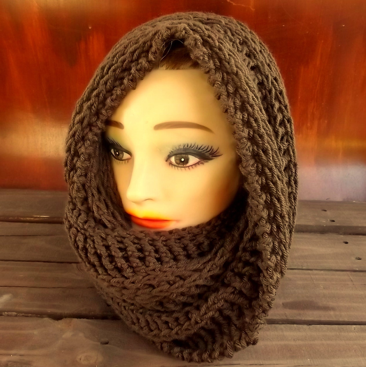 Hooded cowl pattern mobius cowl scarf crochet pattern hooded this is a digital file bankloansurffo Image collections