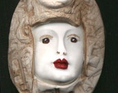 Back  Stock Sale  Art  Nouveau Polymer  Clay  Maiden Faux Marble Cab FMM 1