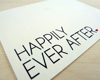 Wedding Card. Engagement. New Couple Card. Bride and Groom Card. Just Married. Happily Ever After.