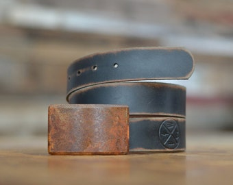 Elements Buckle & Leather Belt by Fosterweld