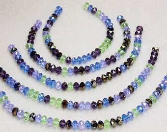 Irish Jig- multicolored crystal rondelles