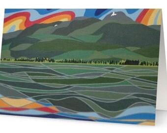 CLEARANCE // Gunsight Peak (Lakelse Lake, BC) Art Greeting Card