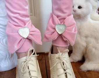 Pastel Pink Velvet Leggings MADE TO ORDER