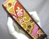 Wristlet Key Amy Butler PInk Lotus Keychain