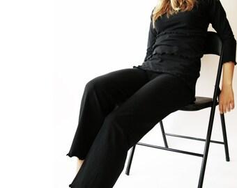 STRAIGHT LEGGED CAPRIS  clothing, women, pants, bottoms, cropped pants, black pants, handmade, yoga pants, treehouse28, custom pants