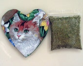 Catnip Heart Toy with Catnip Refillable Cats Kittens