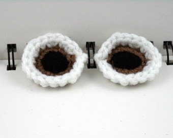 Eyeball Clips (set of 2) in Light Brown