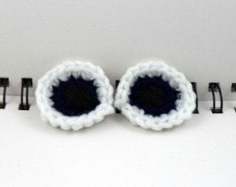 Eyeball Clips (set of 2) in Navy Blue