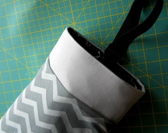 Auto Trash Bag, Car litter bag, GREY on GREY CHEVRON with border, plus others.