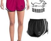 Dachshund Wahoo Warrior Velocity Running Workout Shorts