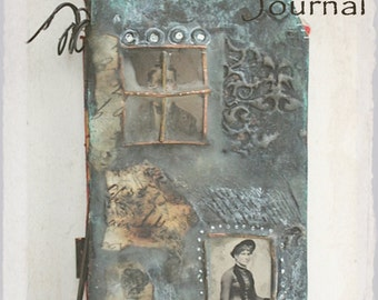 Mixed Media Online Workshop Tutorial  Encaustics and Metal Journal Let The Journey Begin Online