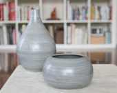 Grey Round Vase - SHOP SALE - Round Vase in Steel Grey - Sale Price on Discontinued Design