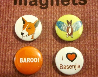 Basenji Magnets (Set of 4)