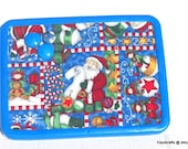 Here Comes Santa Claus Merry Christmas Magnet Board Bulletin Board on Etsy 8x11 With 4 Button Magnets Message Board Adults Children Kitchen