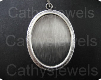 Smooth  Wyandot  Antique Silver Cabochon Bezels Set Of 3