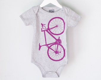 VITAL BICYCLE 3-6 months Infant Heather One Piece Amethyst PURPLE