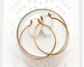 small 1 inch hand hammered bronze hoop earrings with sterling silver earwires