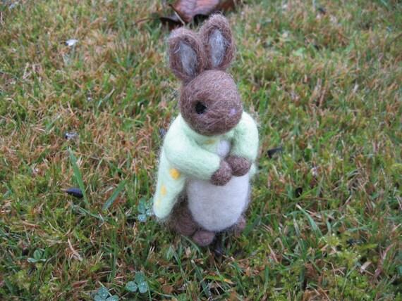 Needle Felted Rabbit Mr OMally Wool Felt Bunny