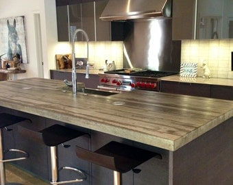 Cast Concrete Kitchen Island Counter Top Made to order