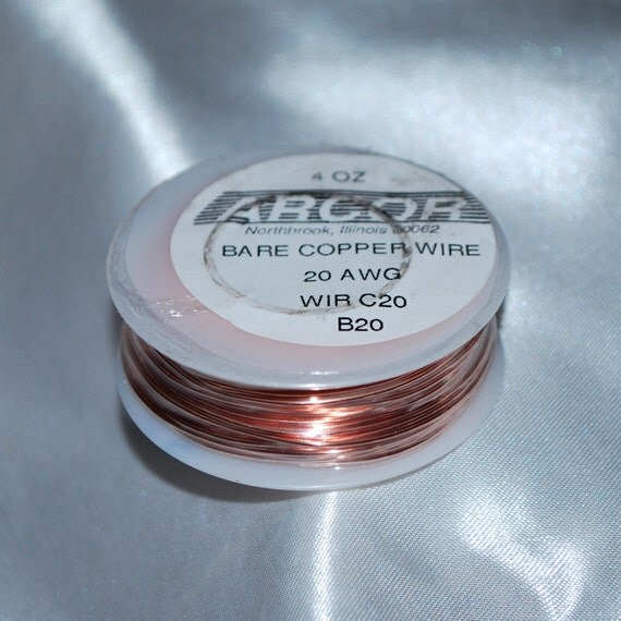20 gauge - 4 oz Spool of Ultra Thin Bare Copper Wire. You can STRING Beads or MAKE Jump Rings. (1) 78 foot roll (24 meters). For Solder Art