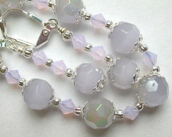 Light Violet Bracelet and Earring Set