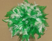 """Feather Centerpiece,Kissing Ball,Pomander 6""""-14"""" bi-colors, crystals, pearls, green, ,black,white, hot pink etc premixed"""