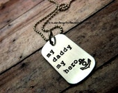 my daddy my hero-necklace-childs necklace-boys necklace-dog tag necklace