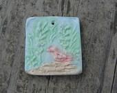Rustic Art Bird bead pendant, ChristyLDesigns