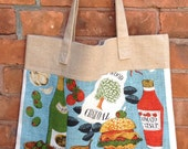 Vintage Tea Towel And Linen Market Tote