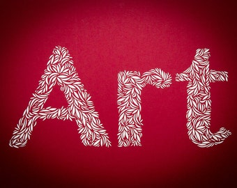 Made To Order - Cut Paper Typography of Art