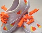 Size 6 Toddler Ready to ship sparkly candy corn inspired shoes for girls