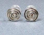 Sterling Silver Earrings Spiral Stud Earring, Post Earrings Tiny Earrings Small stud Earrings minimalist earrings