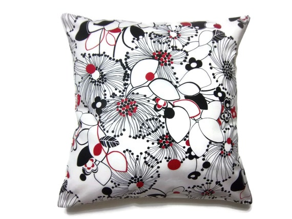 Items Similar To Decorative Pillow Cover Black Red White