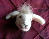 Felted Sheep Ornament