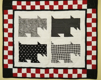 SALE --- Scotty quilted wall hanging