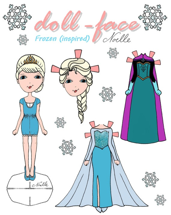 Disney S Frozen Inspired Doll Face Printable Paper Dolls
