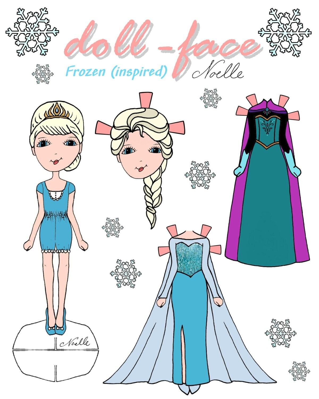 Disneys Frozen Inspired Doll Face Printable Paper Dolls